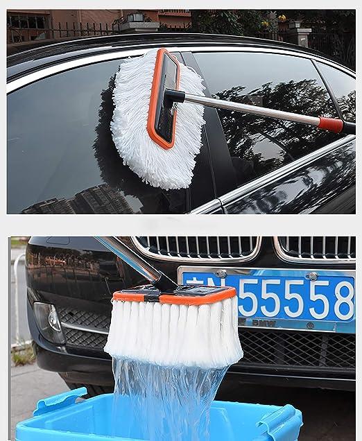 Bmdha Autowaschbürste Langen Griff Teleskopisch Polyester Baumwolle Weicher Pinsel Wird Autofarbe Nicht Verletzen 98 155 Cm Sport Freizeit