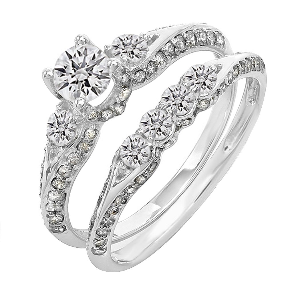 Jewelry & Watches Engagement Rings Certified 1.45 Ct White Round Cut Bridal Wedding Engagement Ring 14k White Gold