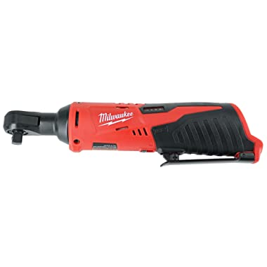 Milwaukee 2457-20 M12 Cordless 3/8  Sub-Compact 35 ft-Lbs 250 RPM Ratchet w/ Variable Speed Trigger (Battery Not Included, Power Tool Only)