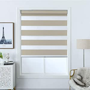 Everyday Celebration Blackout Zebra Shade with Wide & Thick Stripe, Premium Window Blind for Home and Office, 32