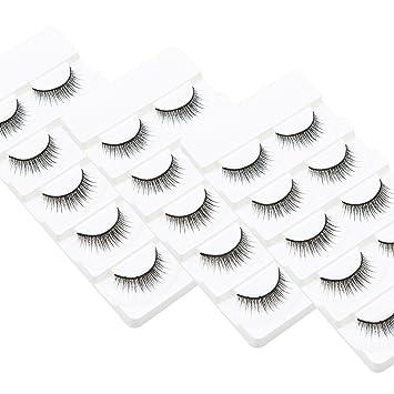 c615ef1fe10 Amazon.com : Wleec Beauty Thin Eyelashes Set Handmade False Eyelash Pack  Natural Strip Lashes #31 (15 Pairs/3 Pack) : Beauty