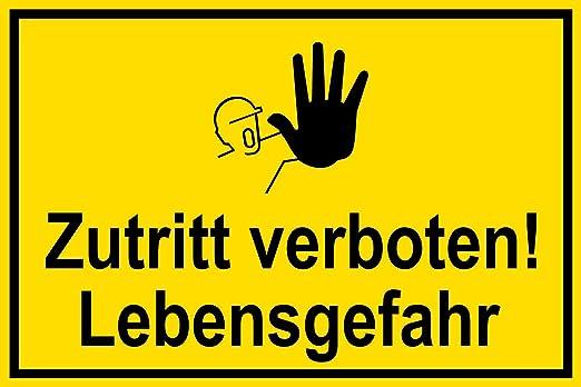 Cartel de plástico - Acceso Prohibido. Vida Peligro - Página ...