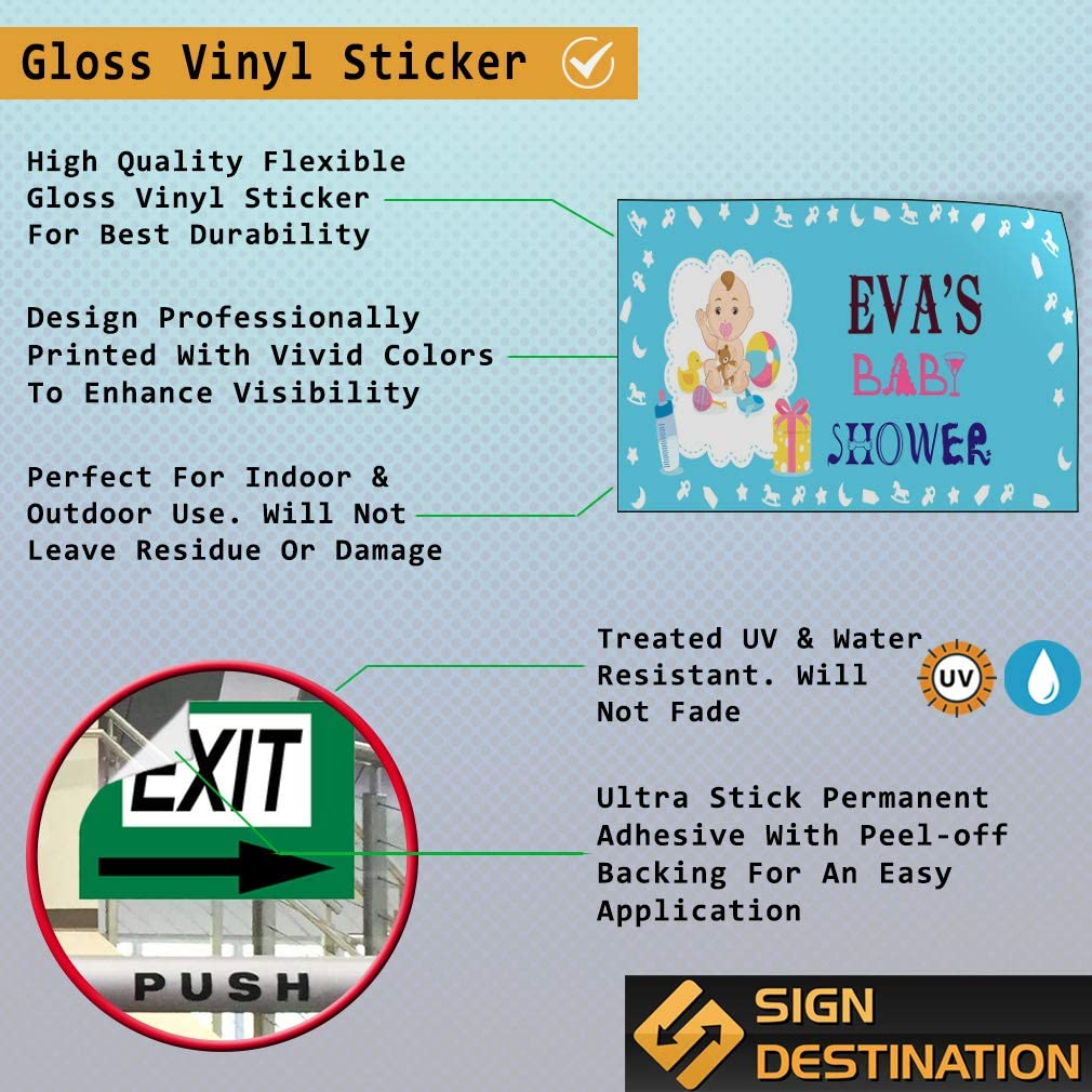 Custom Door Decals Vinyl Stickers Multiple Sizes Girl Baby Shower Blue Lifestyle Baby Shower Signs Outdoor Luggage /& Bumper Stickers for Cars Blue 69X46Inches 1 Sticker