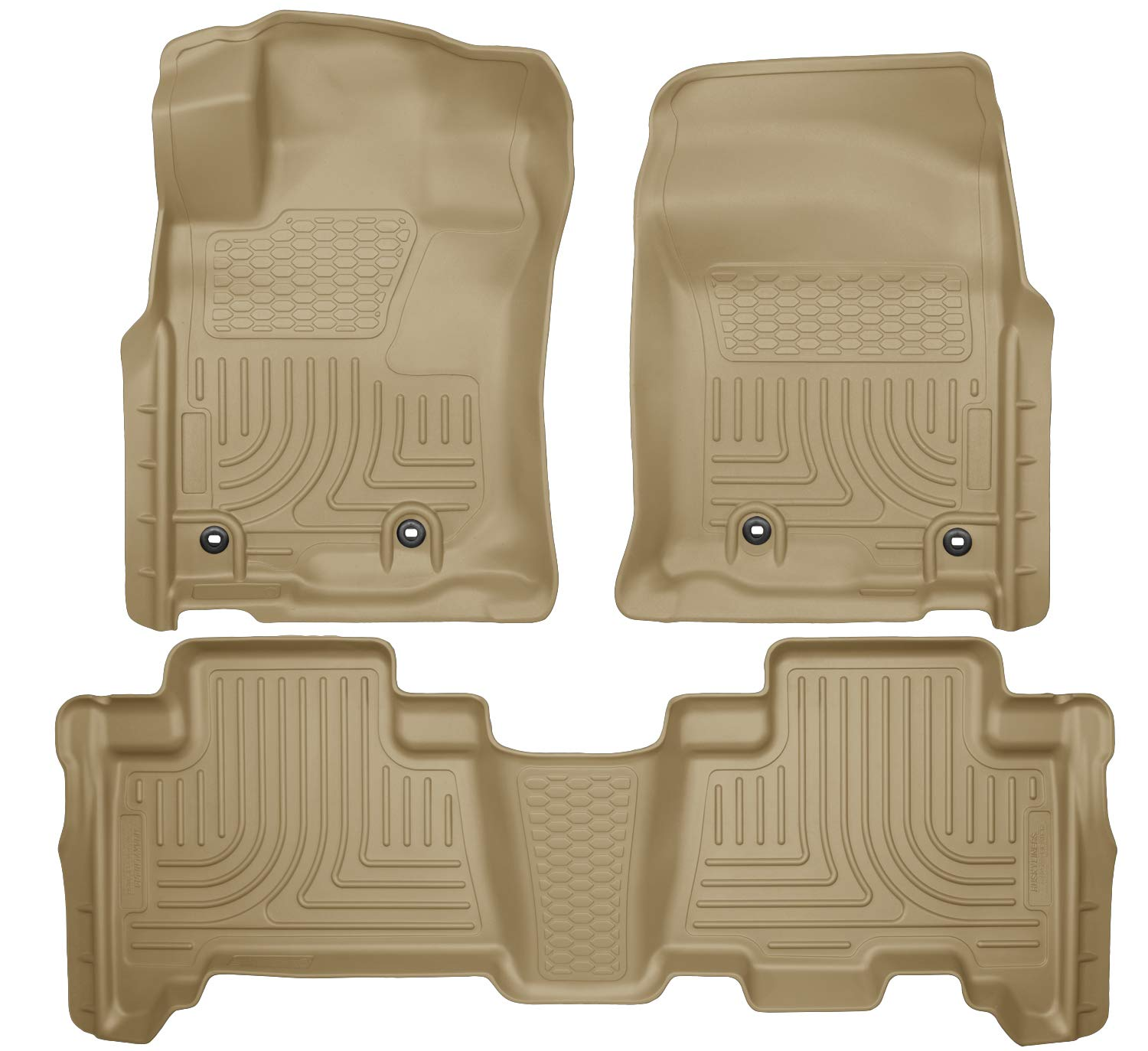 Husky Liners Front & 2nd Seat Floor Liners Fits 14-19 GX460, 13-19 4Runner