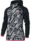 Nike Kids Therma Training Print Hoodie Little Kids/Big Kids Black/Black/Vivid Pink Girl's Sweatshirt