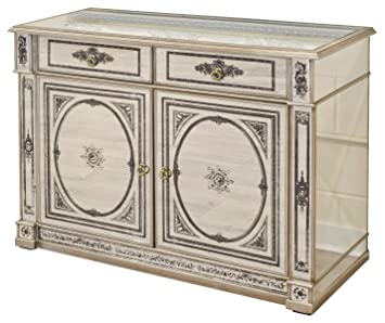 Antique Style Lifestyle On Demand Large 6 Drawer Mirrored Venetian Chest Sideboard 2 Man Delivery To