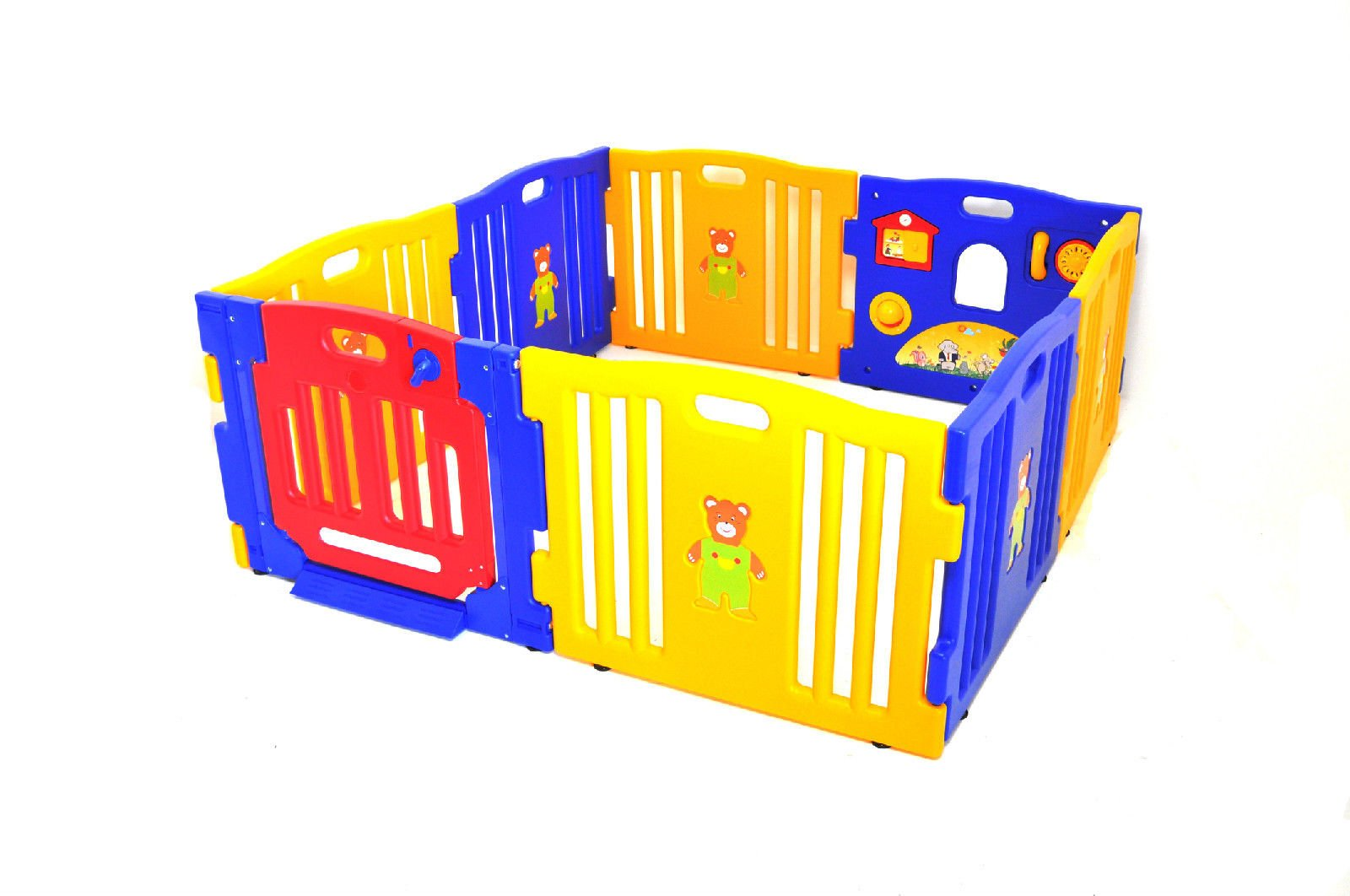 ProSource Baby Kids Playpen 8 Panel Play Center Safety Yard Pen by ProSource (Image #2)