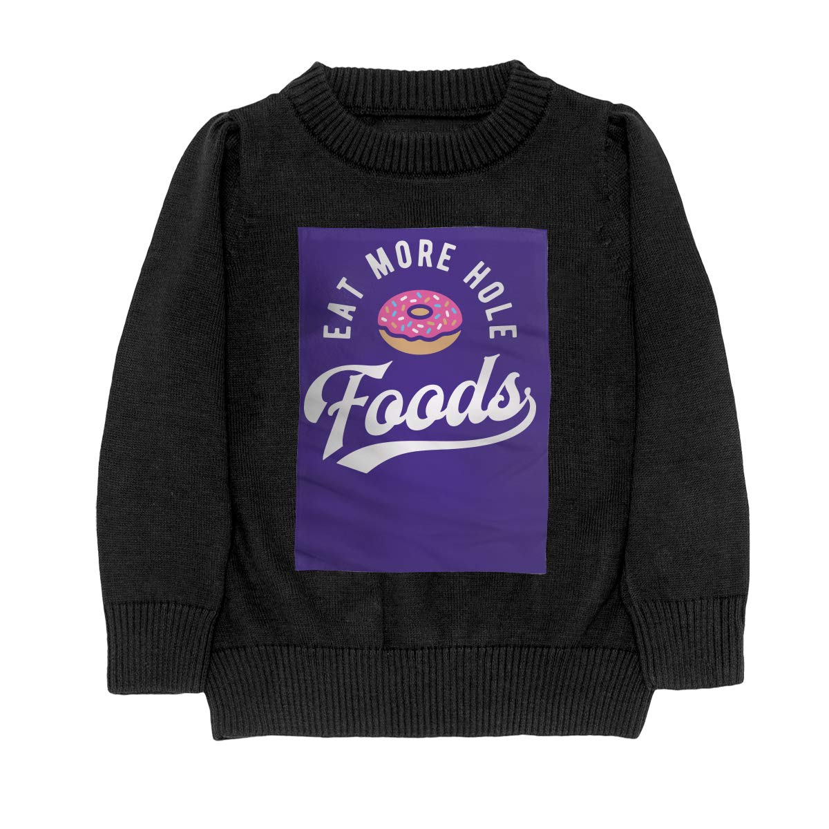 WWTBBJ-B Eat More Hole Foods Doughnut Style Adolescent Boys /& Girls Unisex Sweater Keep Warm