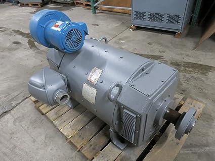 US Motors 125 HP 1150/2300 RPM 4090B652001 409ATZ DC Motor 500V 300V on