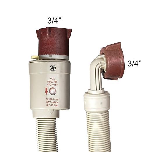 VARIOSAN Tubo de seguridad – , 3/4, Aquastop, para lavadora y lavavajillas: Amazon.es: Bricolaje y herramientas