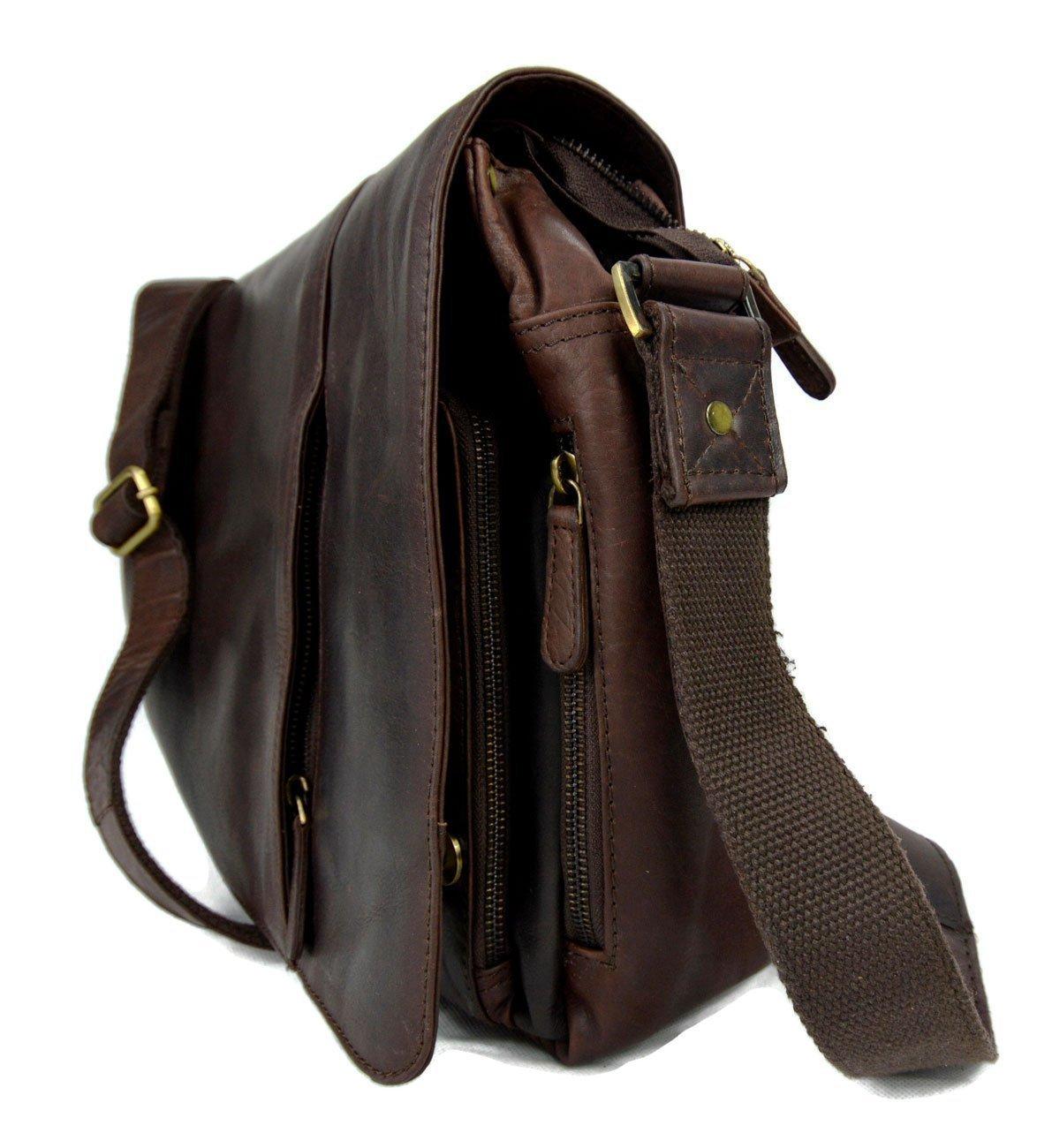 13834a7733 Amazon.com  Genuine italian leather shoulder messenger bag ipad laptop  ladies men notebook leatherbag satchel dark brown crossbody business  executive  ...