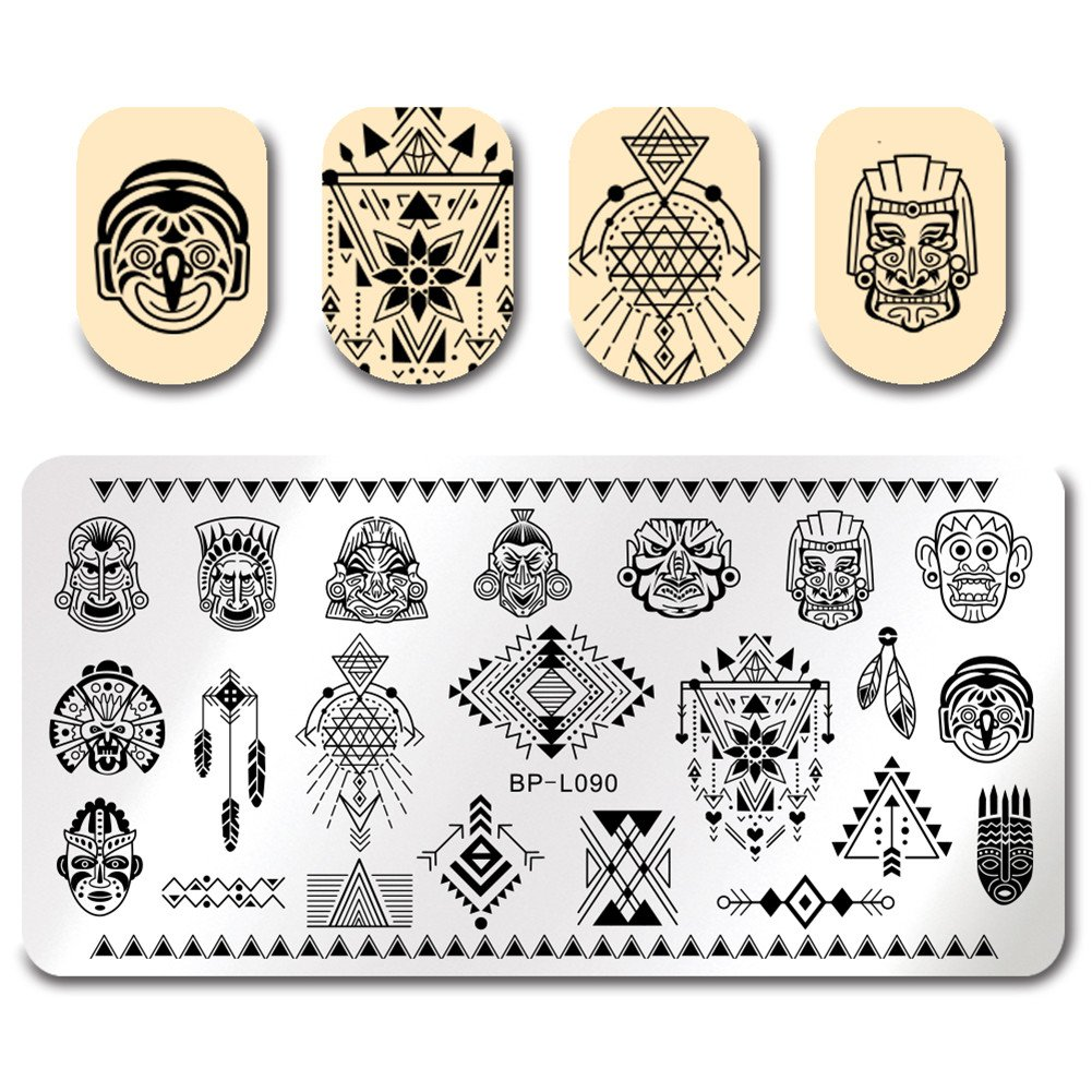 BORN PRETTY Nail Art Stamping Template Constellation Divination Star Rectangle Manicure Print DIY Image Plate BP-L087