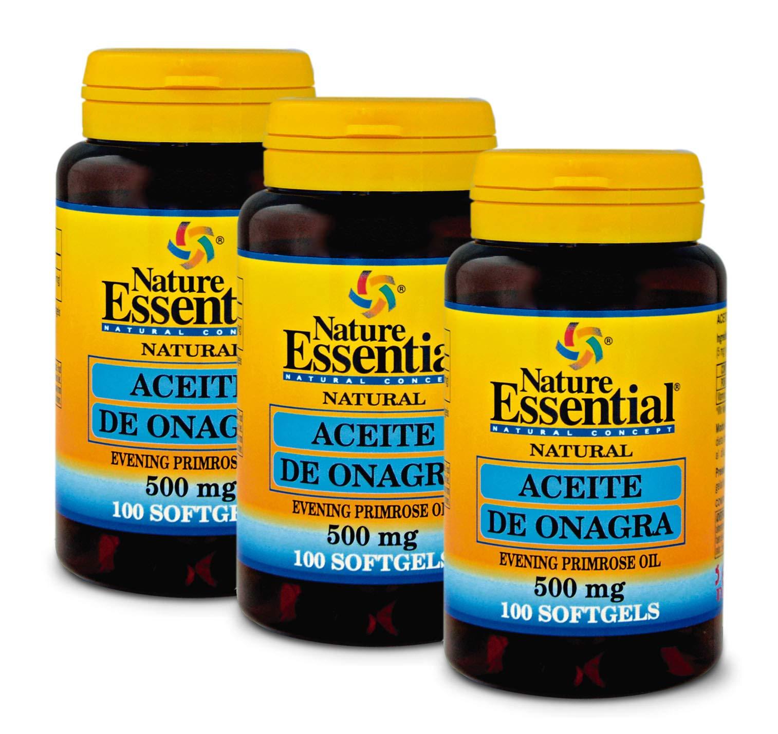 Amazon.es: Nature Essential: Aceite de Onagra 500mg. 100 Cápsulas