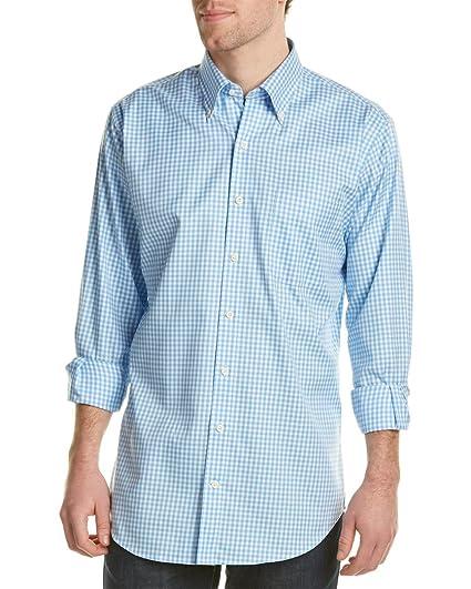 cad22d6b PETER MILLAR Mens Nanoluxe easycare Woven Shirt, XXL, Blue at Amazon ...