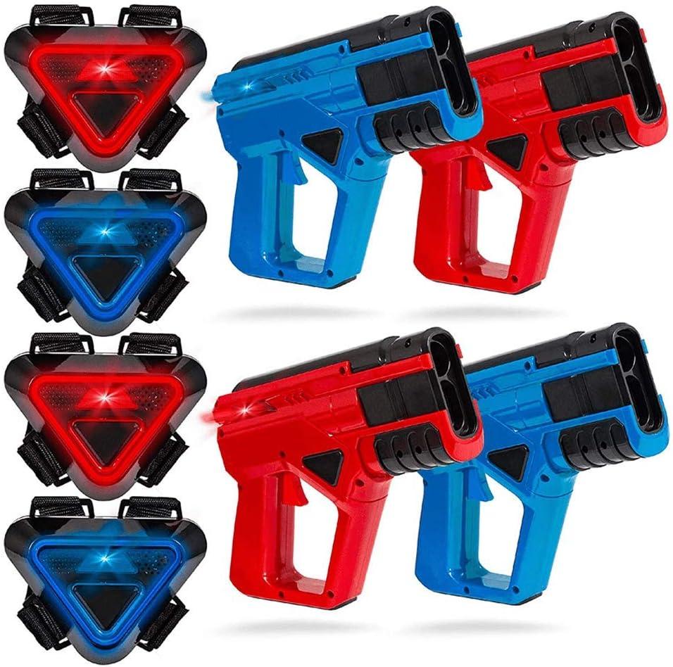 Sharper Image Juego de Juegos de láser - 4 Pistolas + 4 Chalecos