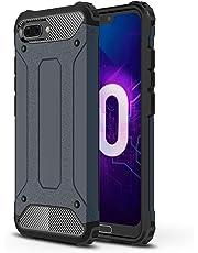 """SsHhUu Funda Huawei Honor 10, TPU + PC Doble Capa Protección A Prueba de Golpes Antideslizante Pesada Híbrida Resistente Protectora y Robusta Funda para Huawei Honor 10 2018 (5.84"""") Azul Marino"""