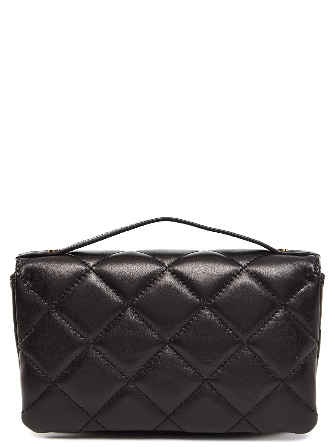 ad9f38cad11b Amazon.com: Michael Kors Sloan Small Quilted Messenger Black Leather: Shoes