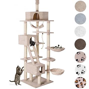 ed4f10e6f86bfb Happypet® CAT015-2 Arbre à chat Griffoir Grattoir 230-260cm Beige ...