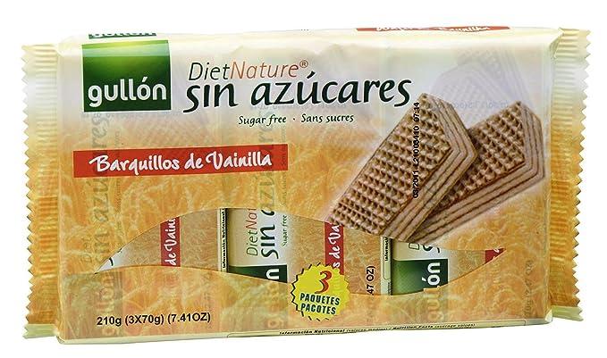 Diet Nature - Galletas Barquillos de Vainilla sin Azucares - 210 g