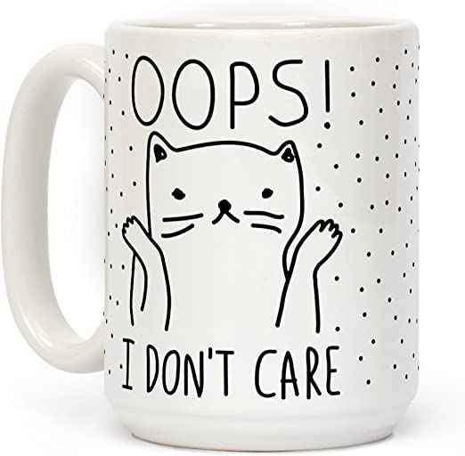 LookHUMAN California Cat Roll White 11 Ounce Ceramic Coffee Mug