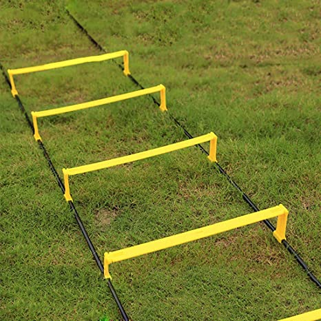 Escalera ágil / Obstáculo ágil Escalera suave Escalera de cuerda escalera de velocidad ritmo entrenamiento de escalera equipo de entrenamiento de fútbol Uso dual Elevar Ajustar escalera de agilidad 2,: Amazon.es: Deportes