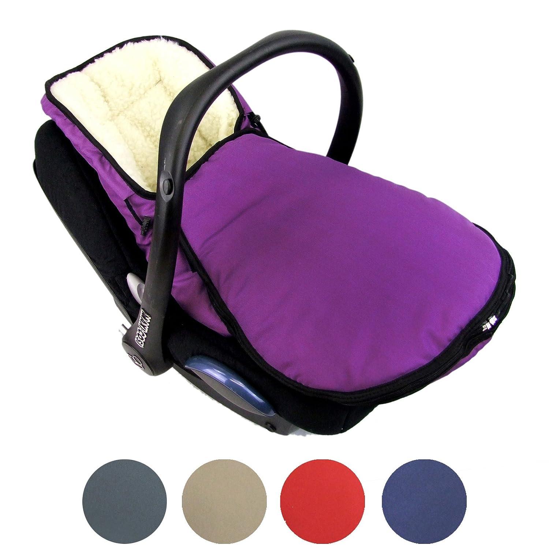 BAMBINIWELT Winterfußsack für Babyschale MAXI-COSI Cabrio Fix mit WOLLE UNI (braun WOLLE)