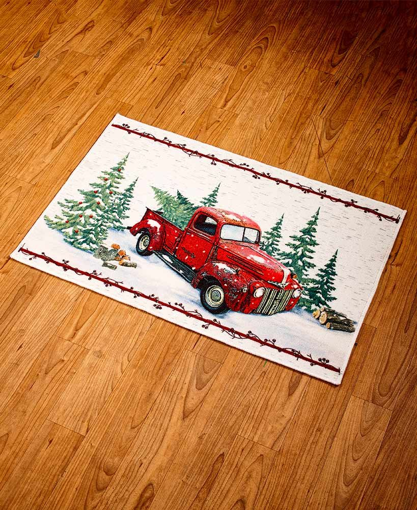 The Lakeside Collection Vintage Country Kitchen Rug