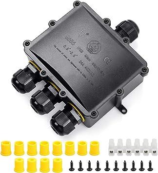 Pro-ELEC 4 Socket//Gang Câble Électrique Extension Reel Metal Stand 13 A BS