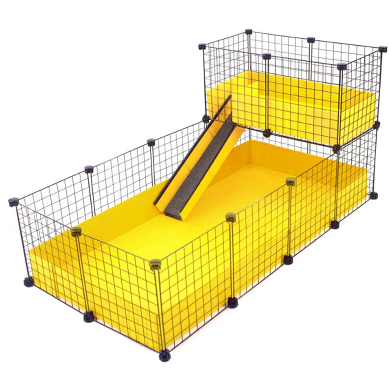 CagesCubes - Jaula CyC Deluxe (Base 2X4 + Loft 2x1 - Panel Negro ...