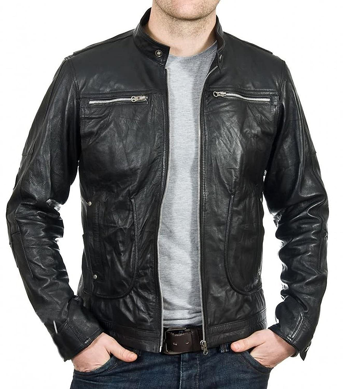 Laverapelle Men's Lambskin Real Leather Jacket Black - 1510191