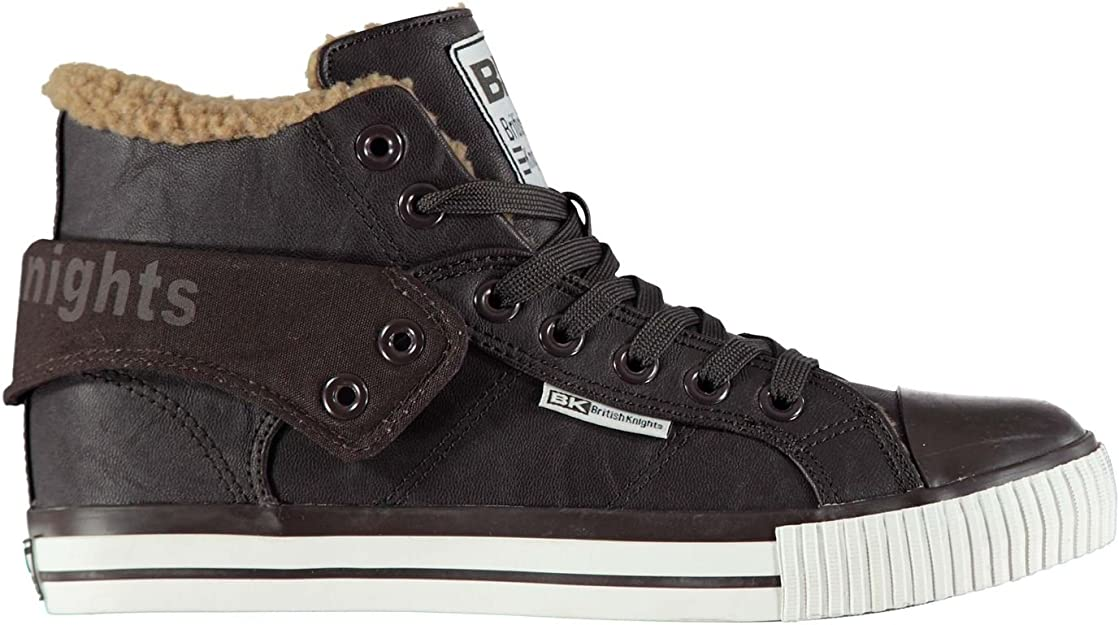 British Knights Herren Roco Fur Hi Top Sneaker Schuhe Dark