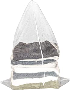 Clorox Laundry Bag with Drawstring – Heavy Duty Mesh with Antimicrobial Protection from Bacteria and Odors   College Dorm, Apartment and Travel Storage, White