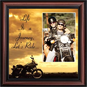 Classic Harley Picture Frame, Harley Davidson Gifts for Men, Harley Davidson Gifts for Women, Harley Davidson Wedding Gifts, Biker Motorcycle Accessories for Men, Unique Motorcycle Wall Décor