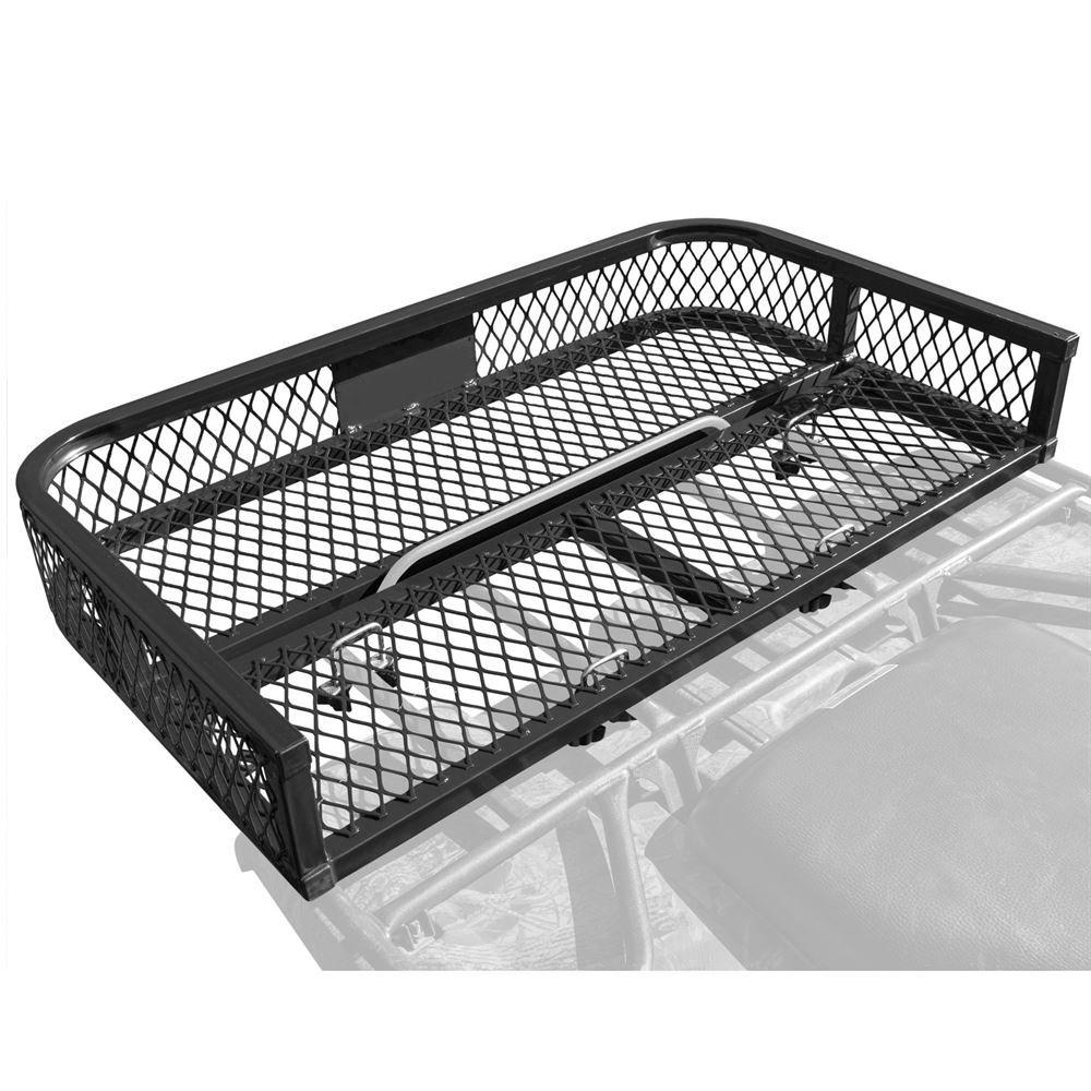 Black Widow Rage Powersports ATVRB-3922 ATV Rack-Mounted Steel Mesh Surface Cargo Storage Basket (Rear)