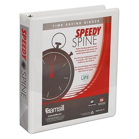 Amazon.com: Samsill Speedy Spine redondo anillo View Binder ...
