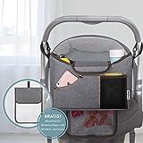 jerrybox Tasche Organizer für Kinderwagen und, anpassbar an alle Kinderwagen, Landschaftsrasen, Gurt Speziell für Konvertieren die Tasche Organizer in Einkaufstasche
