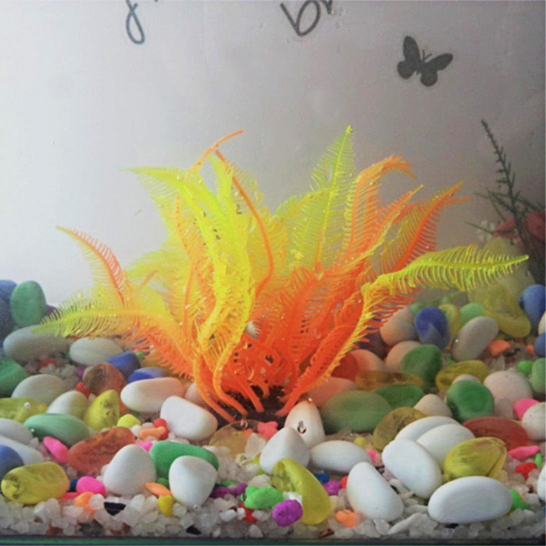 Amazon.com : Plastic Grass Artificial Plants Aquarium Fish Tank Decor Decoration Aquarium : Pet Supplies