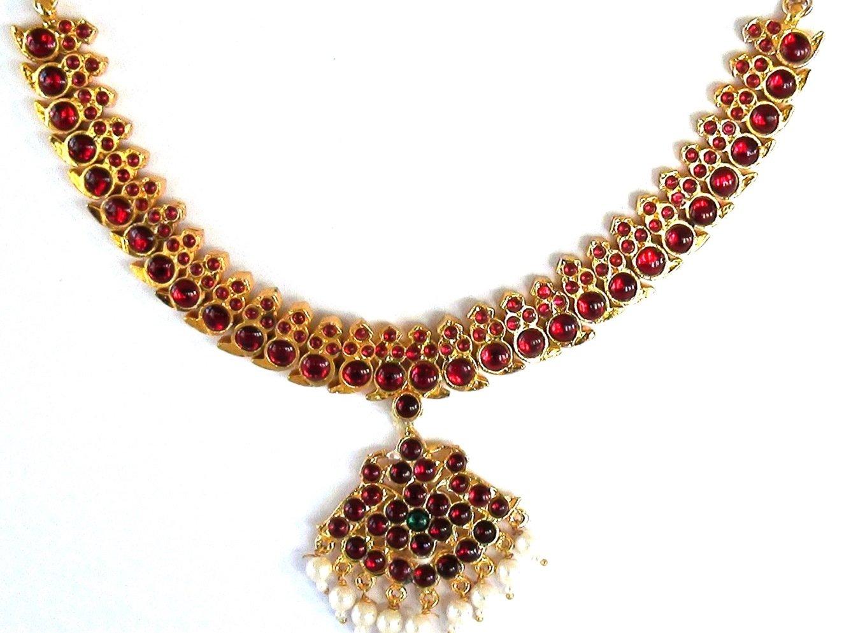 Temple Jewelry Short necklace Manga Malai style for Bharatanatyam and Kuchipudi dance
