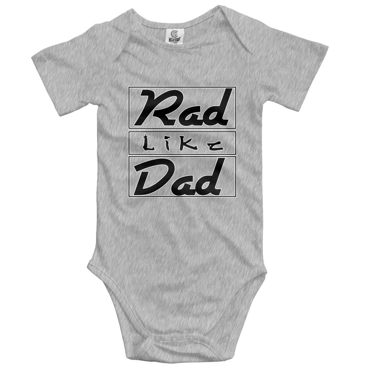 XHX Newborn Babys Rad Like Dad/7 Short Sleeve Romper Onesie Bodysuit Jumpsuit