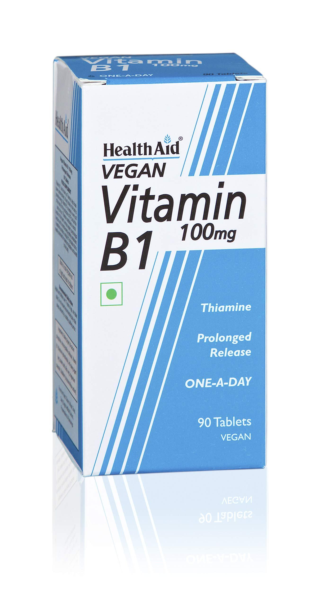Health Aid Vitamin B1 (Thiamin) 100mg - Prolonged Release 90 Tablets