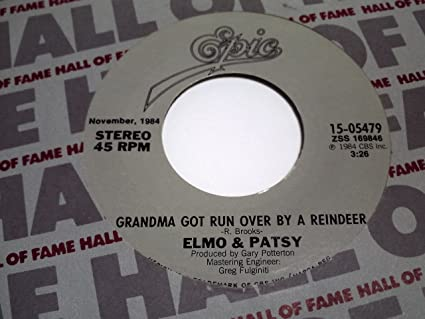 grandma got run over by a reindeer percy the puny poinsettia 45 rpm vinyl record