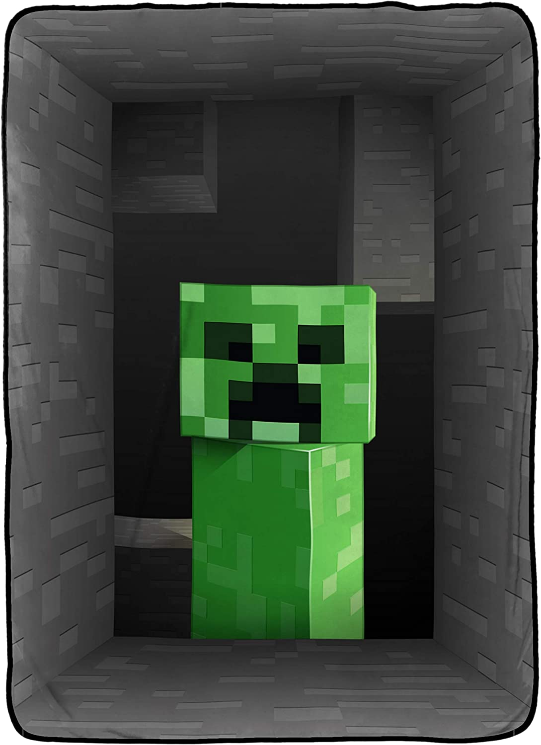 Jay Franco Minecraft Creeper Blanket - Measures 12 x 12 inches, Kids  Bedding - Fade Resistant Super Soft Fleece - (Official Minecraft Product)