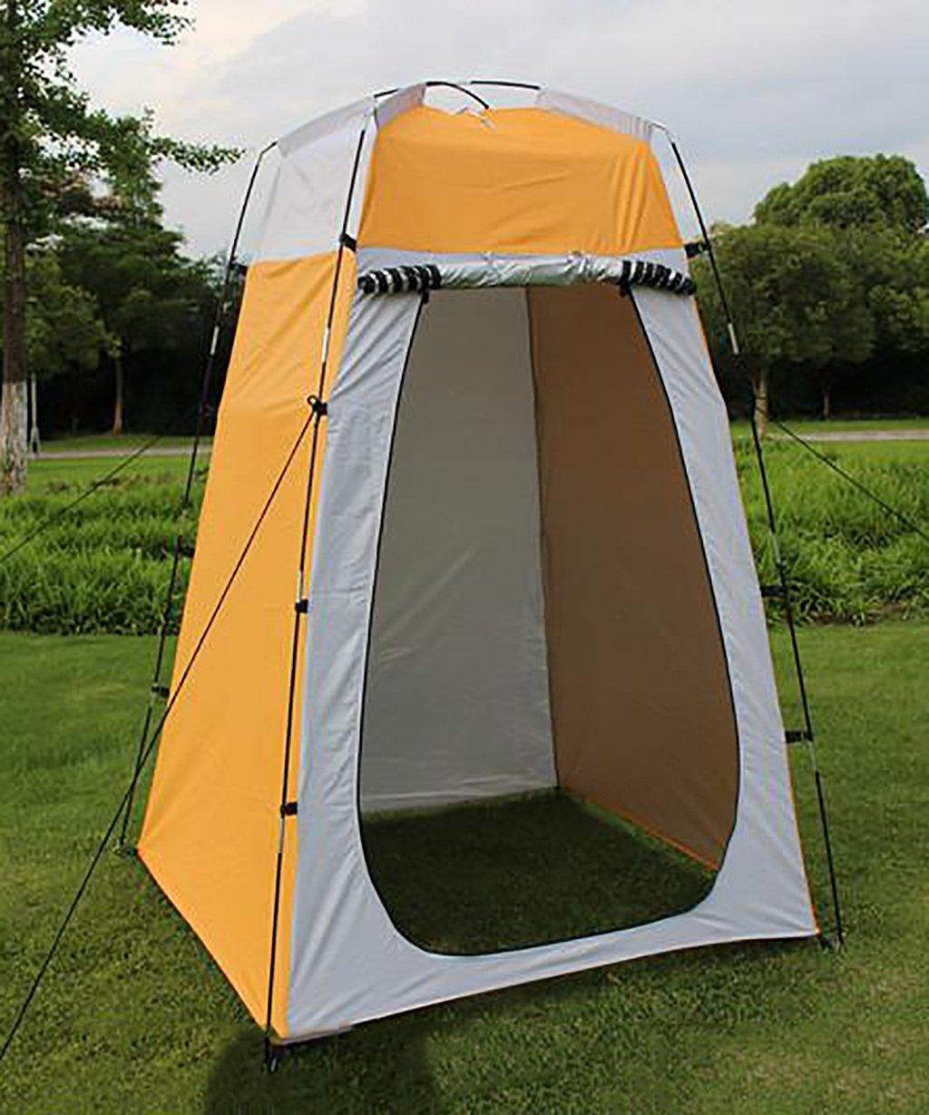 HAIPENG Outdoor Bad Warm Zelte ändern Kleidung Zelt bewegen die Toilette Portable Fishing Camping Zelt gelb + weiß (Farbe : A, größe : 120  120  150cm)