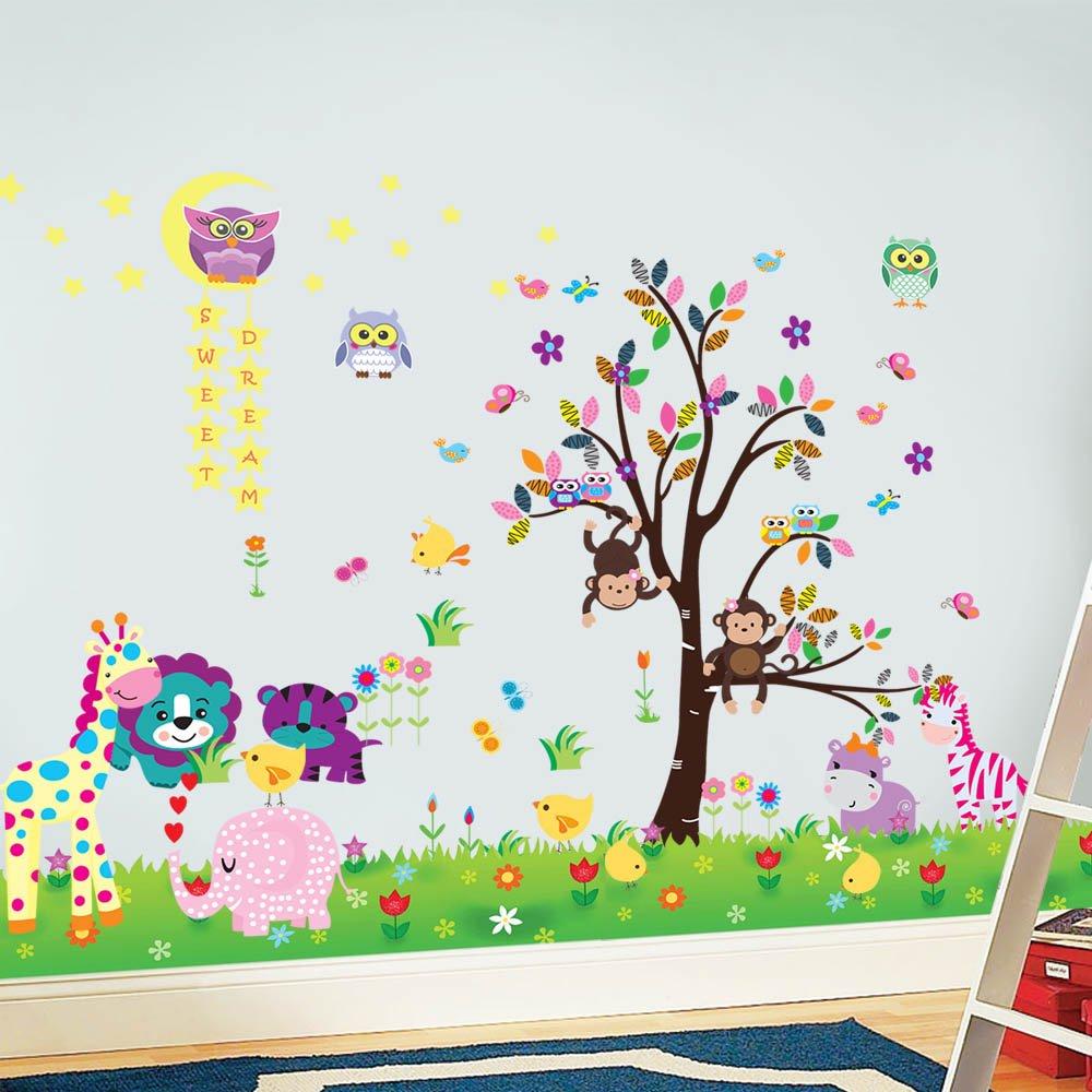 Walplus - 3 set di adesivi da parete per cameretta dei bambini ...