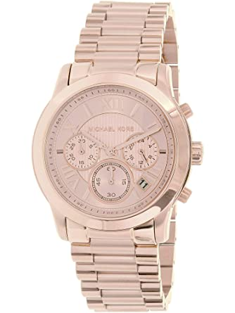 1f2847e2e4bbf Amazon.com  Michael Kors Women s Cooper Rose Gold-Tone Watch MK6275  Michael  Kors  Watches