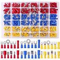 10 Pairs 4 AWG Car Audio Power Ground Wire Heat Shrink Fork Terminal Connector-Ring Fork Hook Butt Splices Solderless Crimper