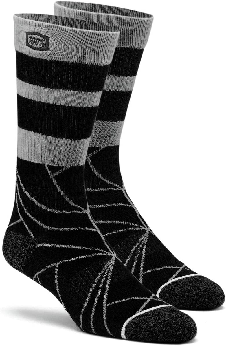 100/% Fracture Adult Off-Road Motorcycle Socks Stone//Small//Medium