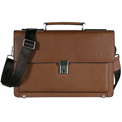well-wreapped Banuce Genuine Leather Briefcase for Men Lock 2way Business Tote Laptop Messenger Bag Attache Case