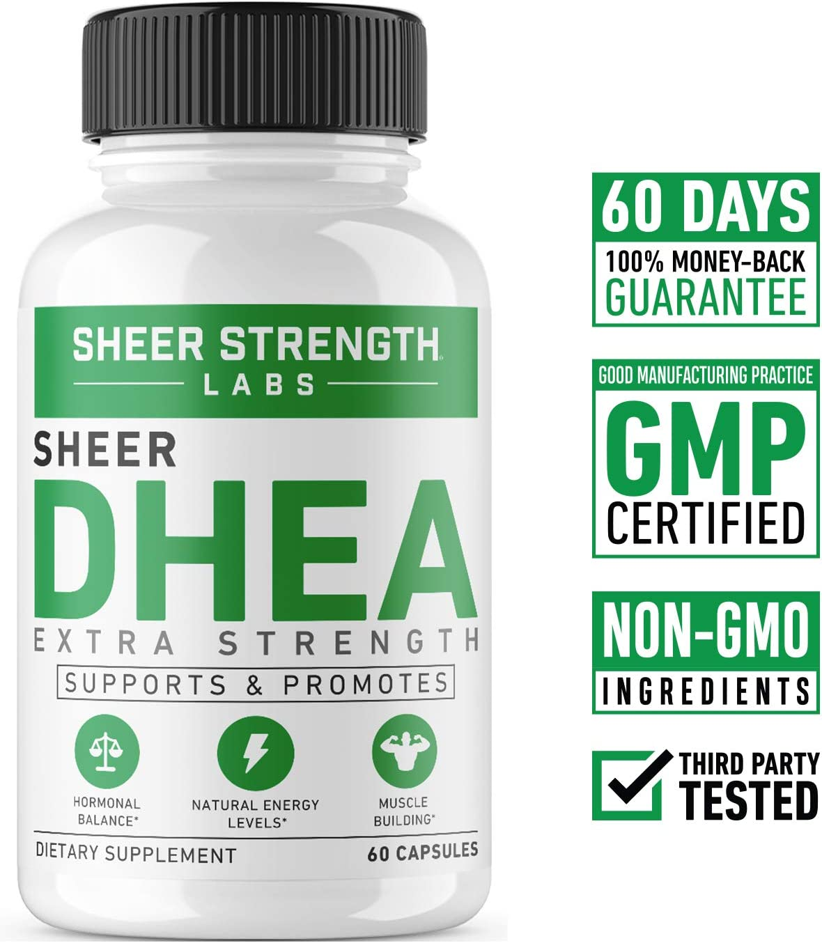 Extra Strength Dhea 100mg Supplement For Muscle Building Hormone Balance Supports Natural Energy Levels Promotes Healthy Aging In Men Women 60 Capsules Dehydroepiandrosterone Formula Health Personal Care