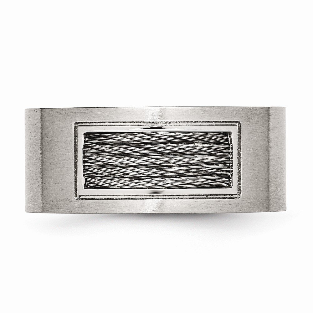 Mens Rings Fashion Rings Stainless Steel Wire Ring Size 13